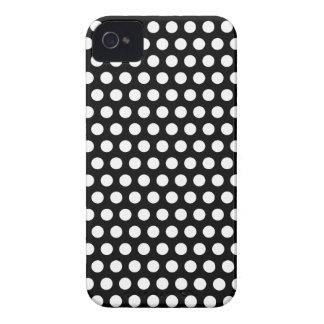 Polka dots black white spots retro elegant, gift iPhone 4 cover