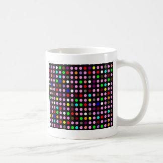 Polka Dots Black with Random Rainbow Coffee Mug
