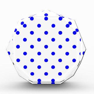 Polka Dots - Blue on White Acrylic Award