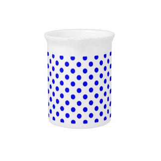 Polka Dots - Blue on White Pitcher