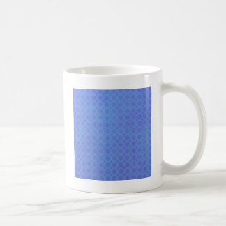 Polka Dots Blue Violet Watercolor Grunge Vintage Coffee Mug