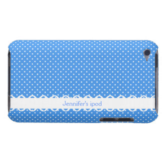 Polka dots blue white retro spot custom girls name iPod touch Case-Mate case