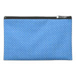Polka dots blue white retro spots travel accessory travel accessories bags