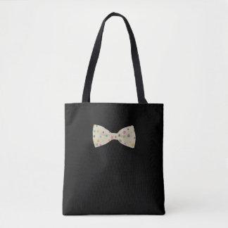 Polka Dots Bow Tie Dog Tote Bag