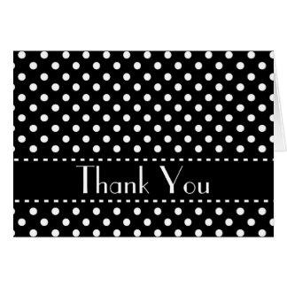 Polka Dots Bridal Shower Thank You Custom V03 Stationery Note Card