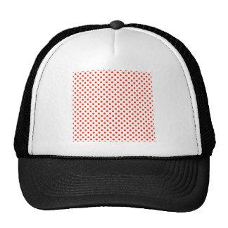 Polka Dots - Bright Red on White Trucker Hat