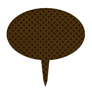 Polka Dots - Brown 3a Cake Picks
