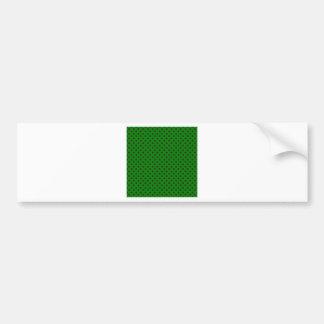 Polka Dots - Brown on Green Bumper Sticker