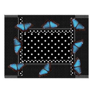 Polka-dots Butterfly Pattern Office Peace Destiny Poster