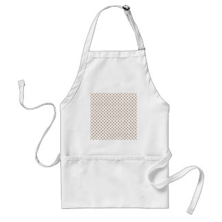 Polka Dots - Cafe au Lait on White Aprons