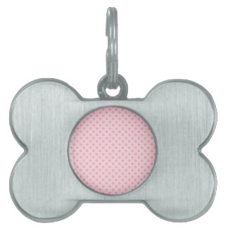 Polka Dots - Carnation Pink on Pale Pink Pet Name Tags