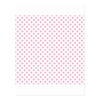 Polka Dots - Carnation Pink on White Postcard