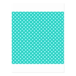 Polka Dots - Celeste on Turquoise Postcard