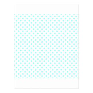 Polka Dots - Celeste on White Postcard