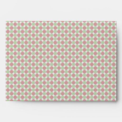 Polka Dots Christmas Greeting Card Envelopes