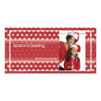 Polka dots christmas photocard customized photo card
