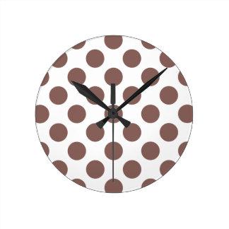 Polka Dots Cognac Clocks