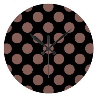 Polka Dots Cognac Wallclock