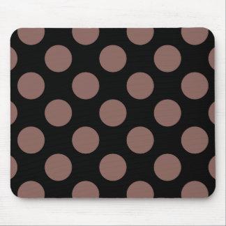 Polka Dots Cognac Mouse Pad
