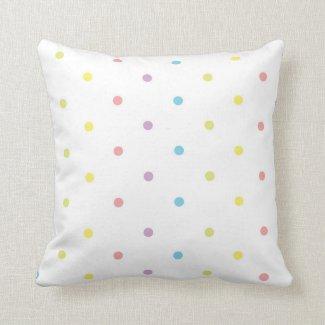 Polka Dots Colorful Pillow