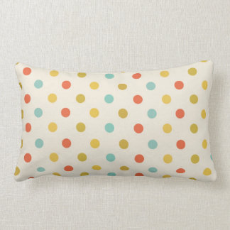 Polka dots colorful vintage retro spots pillow