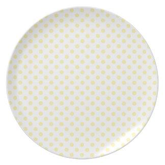 Polka Dots - Corn on Light Yellow Party Plates