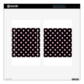 Polka Dots - Cotton Candy on Black Kindle Fire Decals