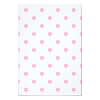 Polka Dots - Cotton Candy on White Card