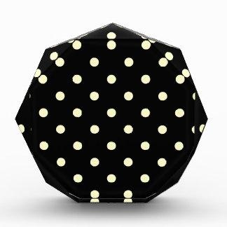 Polka Dots - Cream on Black Award