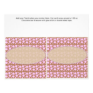 "Polka Dots Custom Candy Bar Wrappers party favors 8.5"" X 11"" Flyer"