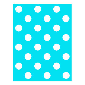 Polka dots cyan hex code 00E3F4 Postcard