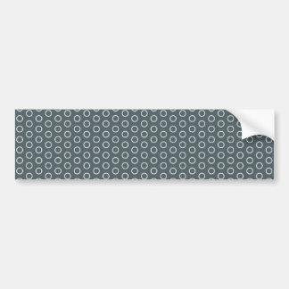 polka dots dabs blue grey pastel point scores bumper sticker