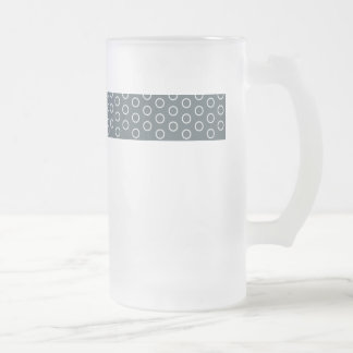 polka dots dabs blue grey pastel point scores frosted glass beer mug