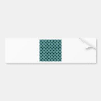 Polka Dots - Dark Blue on Light Green Bumper Sticker