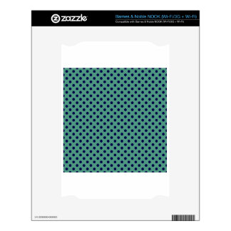Polka Dots - Dark Blue on Light Green Decals For The NOOK