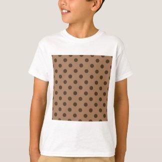 Polka Dots - Dark Brown on Brown T-Shirt