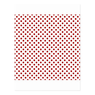 Polka Dots - Dark Candy Apple Red on White Post Cards