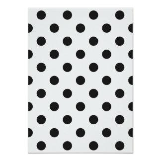 Polka Dots - Dark Gray on Light Gray Card