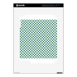 Polka Dots - Dark Green on Light Blue iPad 3 Decal