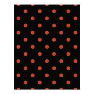 Polka Dots - Dark Pastel Red on Black Letterhead