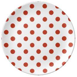 Polka Dots - Dark Pastel Red on White Dinner Plate  sc 1 st  Zazzle & Dark Red Polka Dot Pattern Plates   Zazzle