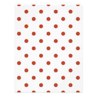 Polka Dots - Dark Pastel Red on White Letterhead
