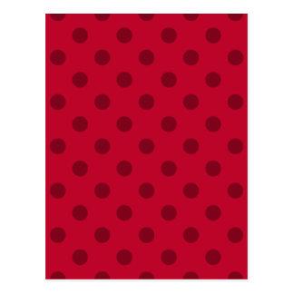 Polka Dots - Dark Red on Red Postcard