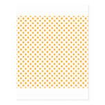 Polka Dots - Dark Tangerine on White Postcard