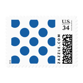 Polka Dots Dazzling Blue Stamps