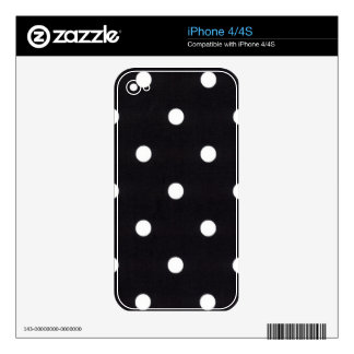 Polka Dots Decal For iPhone 4