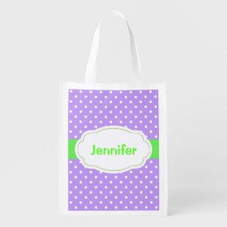 Polka Dots Design Reusable Tote Reusable Grocery Bags