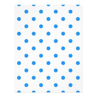 Polka Dots - Dodger Blue on White Letterhead
