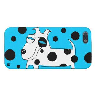 Polka Dots Dog Blue iPhone 5 Case