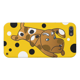 Polka Dots Dog Brown iPhone 5 Case